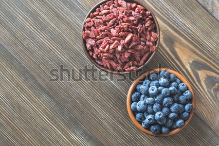 Superfoods on the wooden table Stock photo © Alex9500