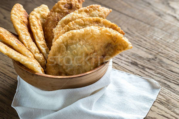 Stack of meat patties in the bowl Stock photo © Alex9500