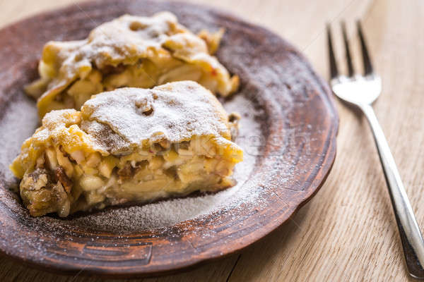 Apple strudel with walnuts Stock photo © Alex9500
