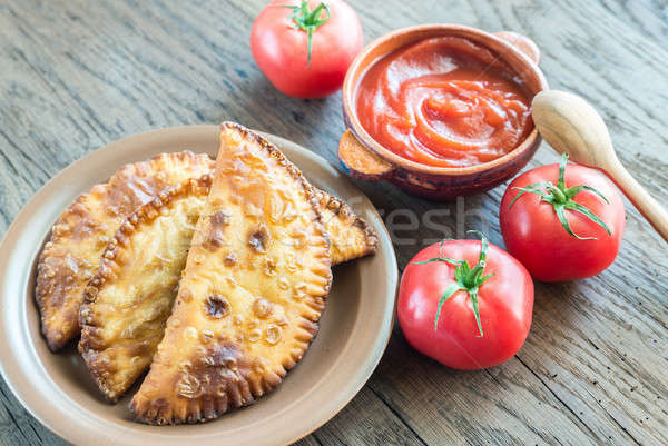 Meat Patties on the wooden background Stock photo © Alex9500