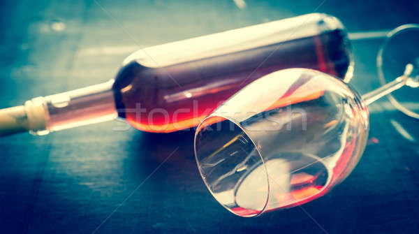 Glass of rose wine Stock photo © Alex9500
