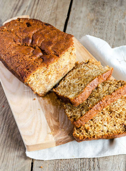 Loaf of banana bread with apple confiture Stock photo © Alex9500