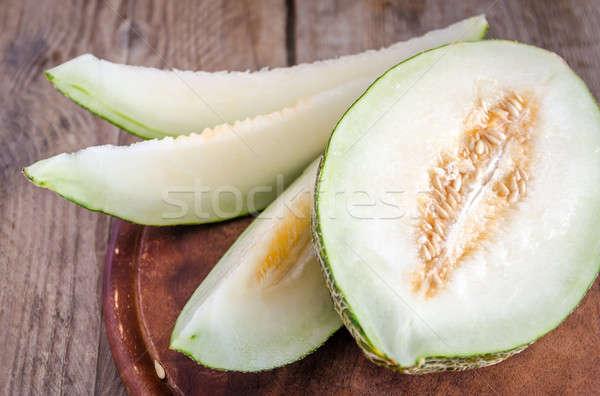 Melone legno sfondo estate verde tropicali Foto d'archivio © Alex9500