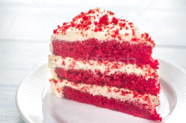 Red velvet cake on the plate Stock photo © Alex9500