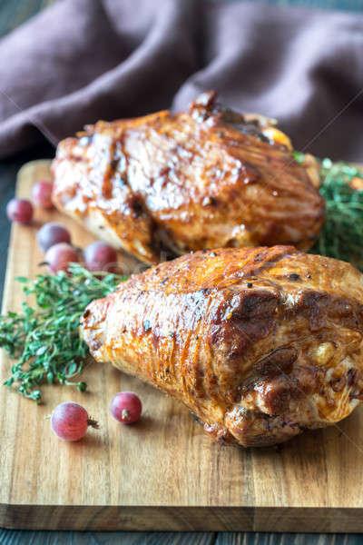 Baked turkey drumsticks Stock photo © Alex9500