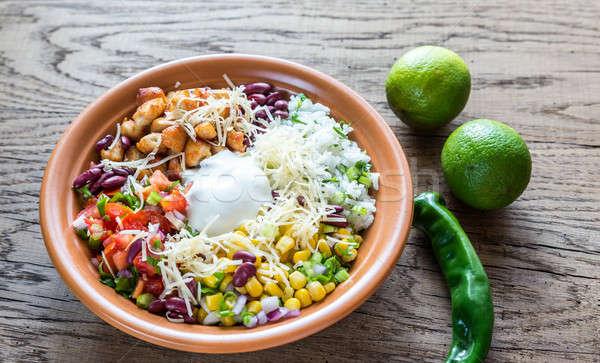 Chicken burrito bowl Stock photo © Alex9500