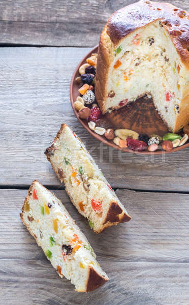 Panettone with dried fruits Stock photo © Alex9500