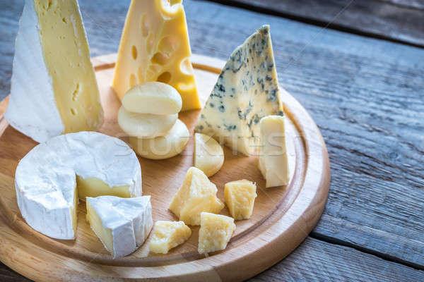 Various types of cheese Stock photo © Alex9500