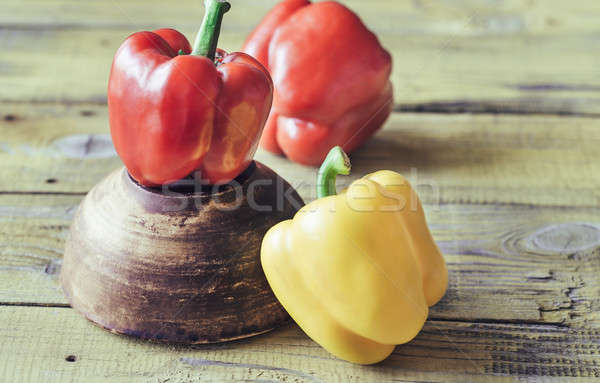Red and yellow bell peppers Stock photo © Alex9500