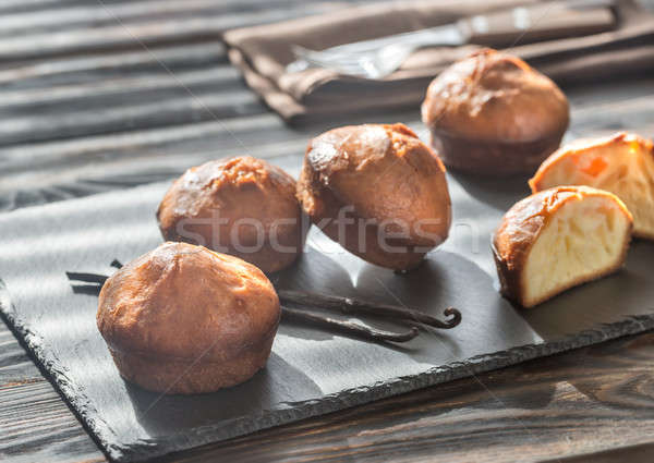 Rum baba on the board Stock photo © Alex9500