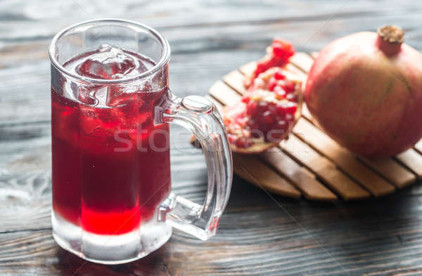 Glass of pomegranate juice Stock photo © Alex9500