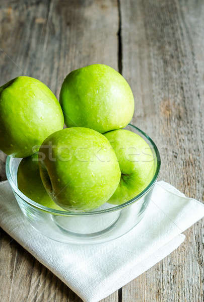 Fresche verde mele mela giardino sfondo Foto d'archivio © Alex9500
