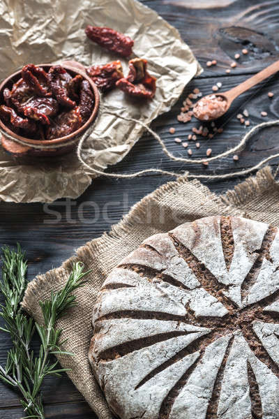 Rye bread with sun-dried tomatoes Stock photo © Alex9500