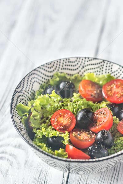 ストックフォト: ボウル · 新鮮な · サラダボウル · サラダ · 食品 · 葉