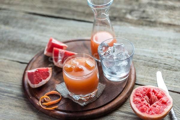 Grapefruit fresh on the wooden table Stock photo © Alex9500