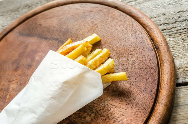 French fries in a paper wrapper Stock photo © Alex9500