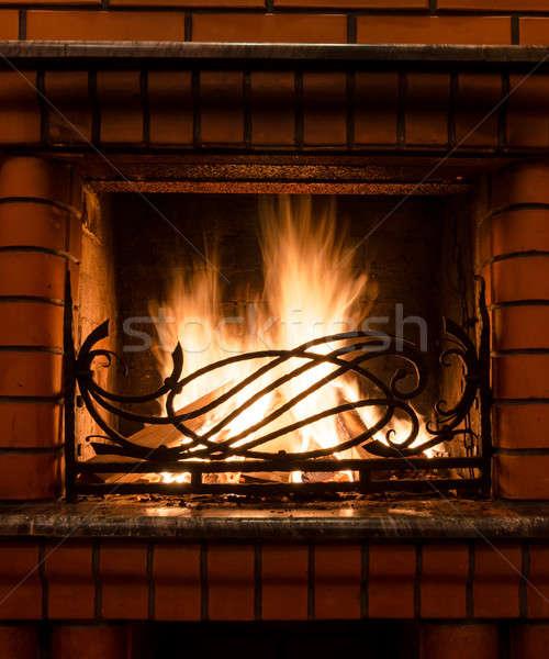 Fireplace Stock photo © Alex9500