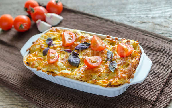 Lasagna pomodorini cena grano ciliegio pranzo Foto d'archivio © Alex9500
