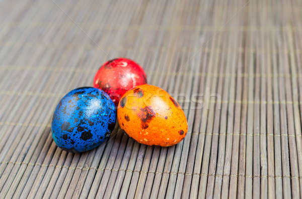 Colorful quail eggs Stock photo © Alex9500
