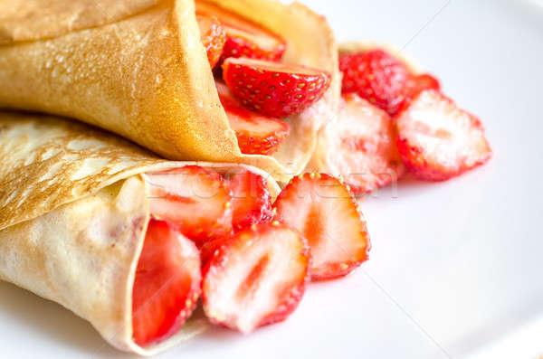新鮮な イチゴ 食品 背景 レストラン プレート ストックフォト © Alex9500