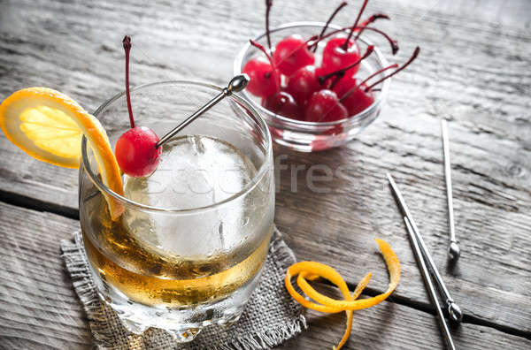 Old Fashioned Cocktails Stock photo © Alex9500