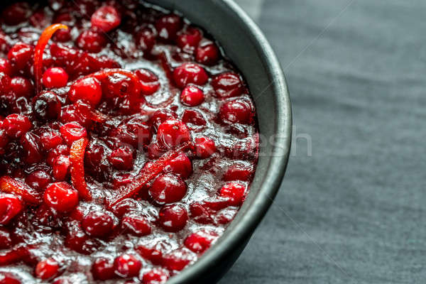 Bowl of homemade cranberry sauce Stock photo © Alex9500