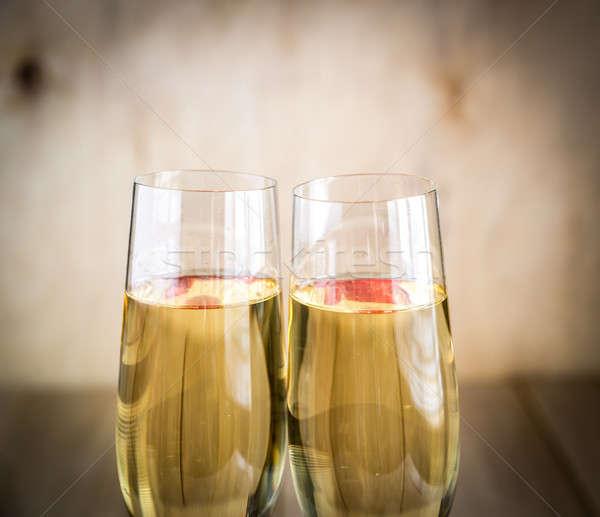 очки шампанского любви вино дизайна стекла Сток-фото © Alex9500