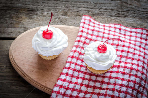 Cupcakes with whipped cream Stock photo © Alex9500