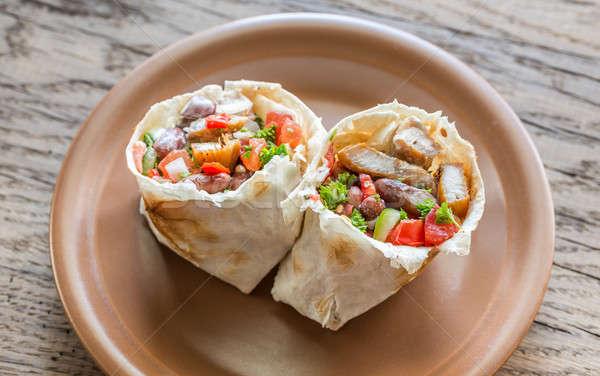 Chicken burrito Stock photo © Alex9500