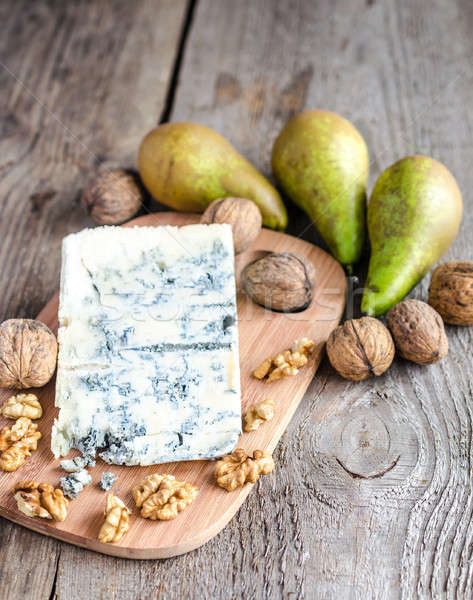 Blue cheese with pears and walnuts Stock photo © Alex9500