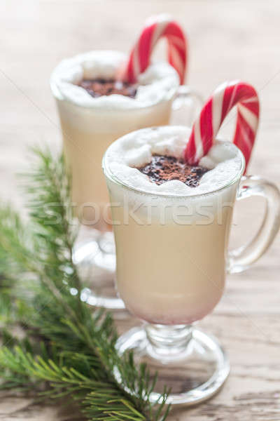 Two glasses of eggnog Stock photo © Alex9500