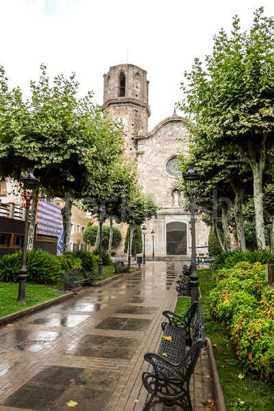 Church of Saint Nicholas in Malgrat del Mar Stock photo © Alex9500