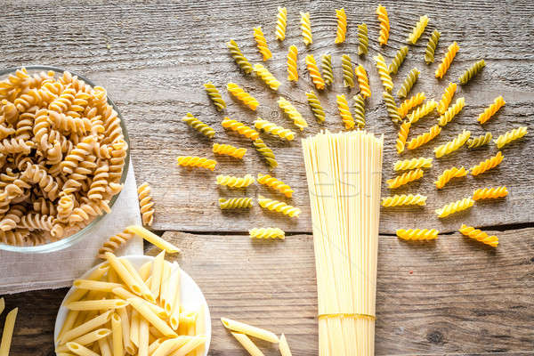 Various pasta types Stock photo © Alex9500