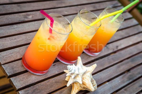 Tres tequila amanecer cócteles Foto stock © Alex9500
