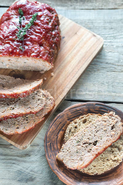 Meat loaf with tomato sauce Stock photo © Alex9500