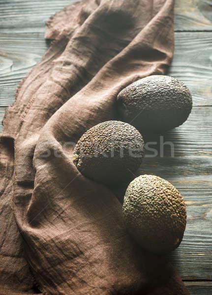 木製 食品 フルーツ グループ 色 暗い ストックフォト © Alex9500