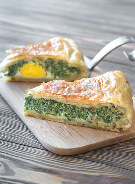 Torta Pascualina - Spinach and Ricotta Tart Stock photo © Alex9500
