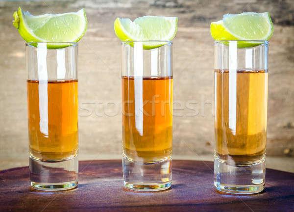 óculos tequila fruto tabela bar Foto stock © Alex9500