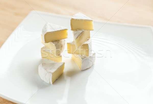 Rebanadas camembert placa alimentos desayuno estudio Foto stock © Alex9500