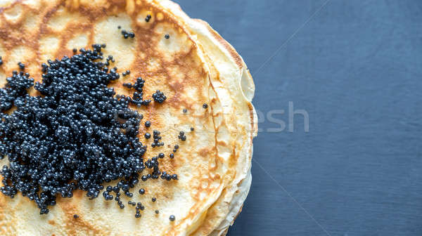 Köteg fekete kaviár étel háttér reggeli Stock fotó © Alex9500