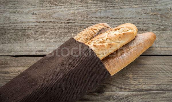 три багеты продовольствие пшеницы завтрак Сток-фото © Alex9500