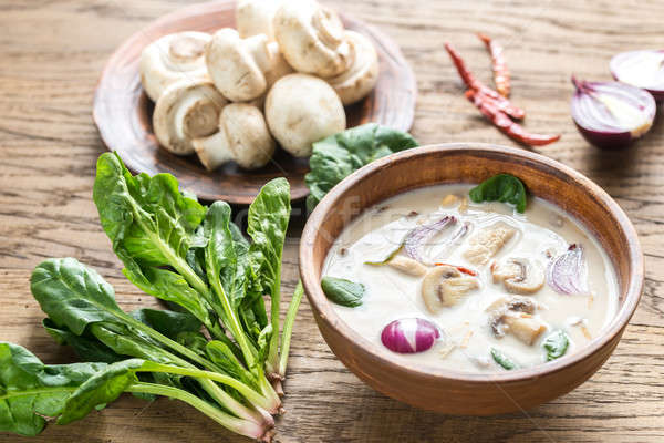Thai coconut cream soup Stock photo © Alex9500