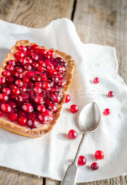 Tart with jellied fresh cranberries Stock photo © Alex9500