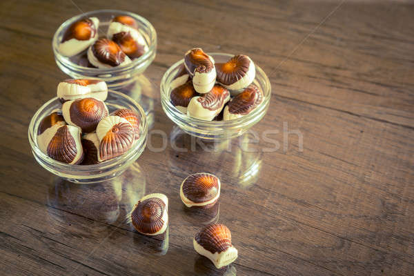 Seashells chocolates Stock photo © Alex9500