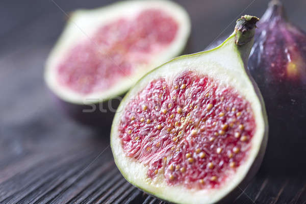Fresh figs on the wooden background Stock photo © Alex9500