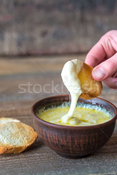 ボウル チーズ ディップ パン 高速 黄色 ストックフォト © Alex9500