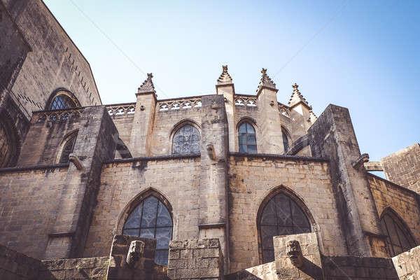 Catedral edifício janela igreja escada Foto stock © Alex9500
