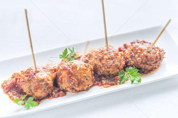 Turkey meatballs skewers Stock photo © Alex9500