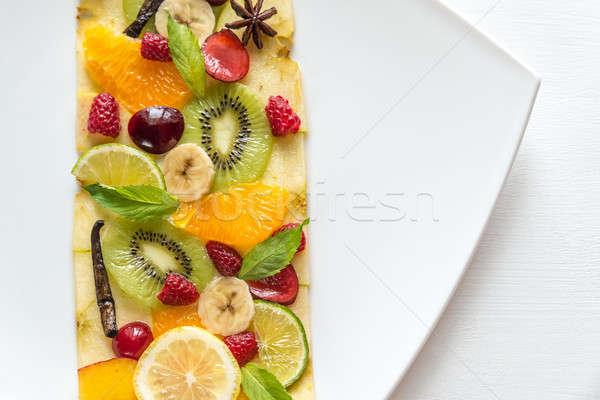 Vruchten bes textuur voedsel appel groene Stockfoto © Alex9500