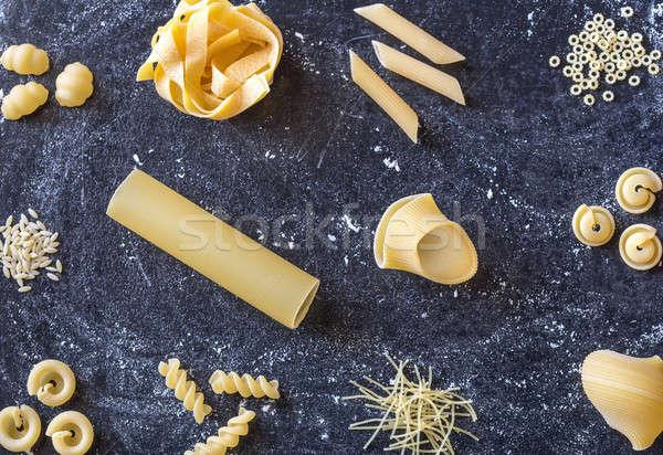 Various types of raw pasta Stock photo © Alex9500